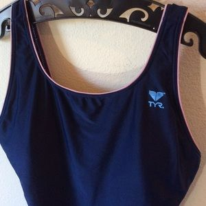 TYR Swim - THR Navy Blue Swim Suit One Piece Sporty Swim